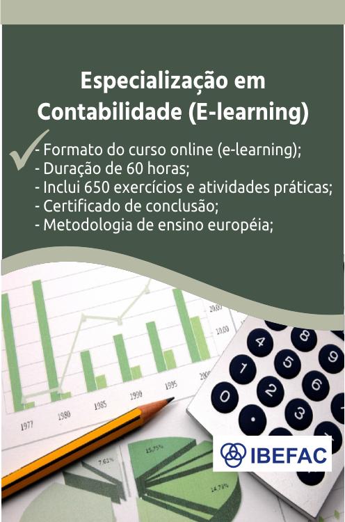 Especialização em Contabilidade (E-learning)