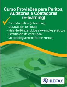 Curso de Provisões para Peritos, Auditores e Contadores
